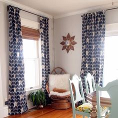 Love these Beautiful lined drapes by @sawdustandembryos! (Swavelle/mill creek fabric) #homedecor #inspiration #ikat #interiordesign #diy