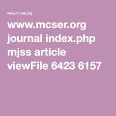 continuity www.mcser.org journal index.php mjss article viewFile 6423 6157