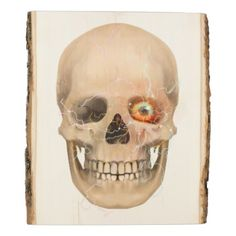 Eye Fiction Skull Wood Panel - diy cyo customize create your own personalize