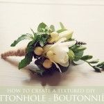 How To Create Your Own DIY Textured Button Hole / Boutonnière