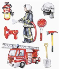 Fire Fighter Cake, 3d Sticker, Kindergarten Portfolio, Community Workers, Up Book, Early Childhood Education, Fire Department, Games For Kids, Firefighter