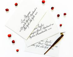 "Learn calligraphy for a latté! This calligraphy worksheet set will teach you the ""Janet"", an elegant and classic copperplate-inspired style. Basic Calligraphy, Calligraphy Worksheet, Calligraphy Envelope, Envelope Art, Caligraphy, Whimsical Wedding Invitations, Postman's Knock, Letter Form, Addressing Envelopes"