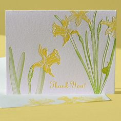 Daffodil Thank You Note