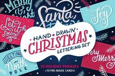 cool Christmas Lettering | Holiday Cards  CreativeWork247 - Fonts, Graphics...