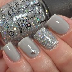 I'd want the glitter nail on my ring finger. No nail stud tho.