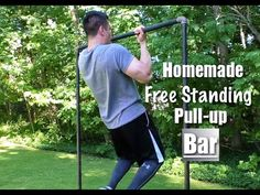 Homemade Free Standing Pull-up Bar - YouTube