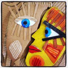 Picasso Face Sculpture. Gloucestershire Resource Centre http://www.grcltd.org/scrapstore/