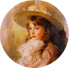 """Philip Alexius de László, """"A Young Girl"""""""