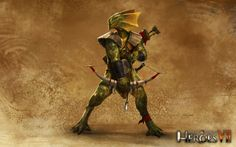 The lizardman is a neutral creature in Might& Magic: Heroes VII add-on, Trial by Fire. Lizardmen are Beastmen created by the Wizards of House Chimera. But while there are records of Lizardmen created by the fanciful Wizard Agar, the creatures roaming the swamps and coves of the Agyn Peninsula are believed to be a much more recent breed.