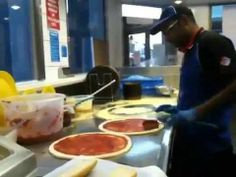 How to make Domino's Pizza? from Slaping to toppings. All covered