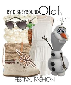 """Olaf"" by leslieakay ❤ liked on Polyvore featuring Robert Rose, Scoop, Thomas Sabo, Topshop, TOMS, women's clothing, women, female, woman and misses"