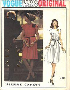 Vintage Pierre Cardin Vogue Paris Original Uncut Sewing Dress Pattern, Size 14, Bust 36. $40.00, via Etsy.