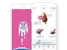 Baskin Robbins - iOS UI designed by Nazar. Medal Ribbon, Ios Ui, Baskin Robbins, Iphone, Design