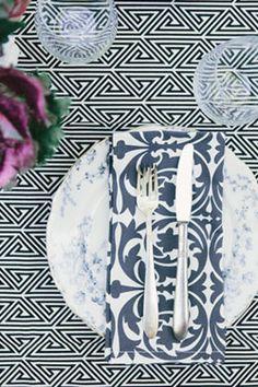 Black & White Tablescape