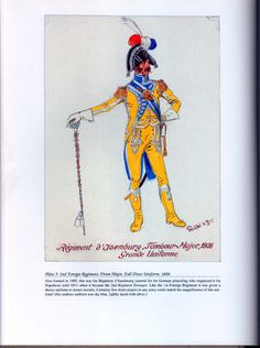 Foreign Troops: Plate 5: 2nd Foreign Regiment, Drum Major, Full-Dress Uniform, 1808.