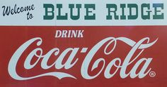 Blue ridge sign prominently displayed in historic downtown blue ridge