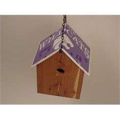 Kansas State Wildcats Cedar Birdhouse License Plate Roof Handmade BHLP-805 $49.99