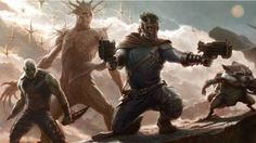 Guardians of the Galaxy Concept Art from Marvel From left to right: Drax the Destroyer, Groot, Star-Lord, Rocket Raccoon, Gamora ~I do not own this pict. Guardians of the Galaxy Marvel Comics, Films Marvel, Marvel Logo, Marvel Heroes, Marvel Characters, Marvel Names, Epic Characters, Marvel Art, Peter Quill