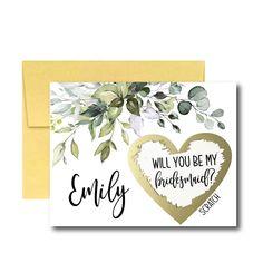 Will You Be My Bridesmaid Scratch Off Card, Bridesmaid Proposal Card, Greenery Ask Bridesmaid Asking Bridesmaids, Will You Be My Bridesmaid, Bridesmaid Proposal Cards, Bridesmaid Boxes, Scratch Off Cards, Gold Envelopes, Wedding Favors, Wedding Souvenir, Diy Wedding