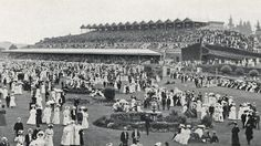 Cup Day at Flemington Racecourse Melbourne 1912
