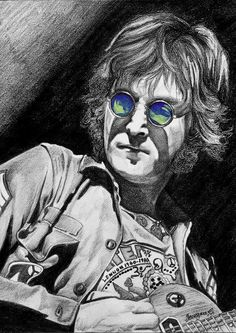 drawing of John Lennon