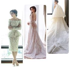 Chompoo Araya A. Hargate on wedding gowns