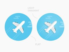 An airplane icon in both flat and light gradient versions included within the set. Flat Design, App Design, Icon Design, Airplane Icon, Flat Icons, Design Research, Travel Design, Cloud 9, Italia