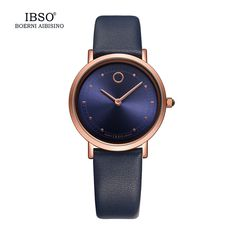 IBSO 7 6MM Ultra Thin Women Watches 2017 Fashion Waterproof Quartz Watch Women Luxury Genuine Leather