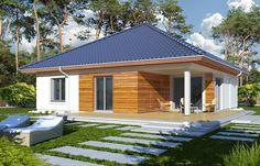 Projekt domu HR RYSIEK wersja A bez garażu - DOM Z3-93 - gotowy projekt domu