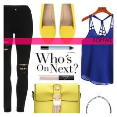 """""""Who's On Next?"""" by tasnime-ben ❤ liked on Polyvore featuring SANTA CLARA Milano, NARS Cosmetics, shu uemura and romwe"""