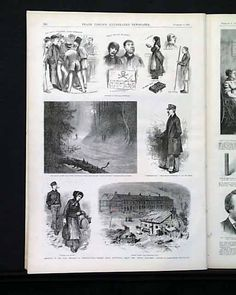 """""""Anarchy In The Coal Regions Of Pennsylvania.--Scenes About Pottsville Among the 'Molly Maguires."""", LESLIE'S ILLUSTRATED, from New York, dated February 6, 1875."""