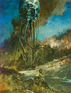 an interior illustration for a french publication of war of the worlds
