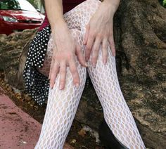 Crochet fishnet stockings. We wore these with garter belts.  When panty hose came out it was a miracle.