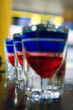 4th of july shooter cocktail