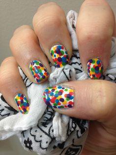Nail idea for the Color Run!