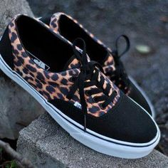 Cheetah print Vans. I have a mini obsession with cheetah right now.