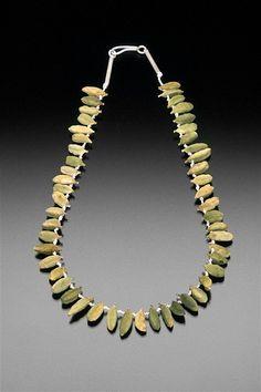 Sarah Hood. Green Cardamom, 2000. Whole cardamom pods, silk cord, sterling silver.