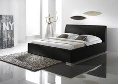 Cadre de lit Alto Comfort 200×200 cm aspect cuir haute qualité [Noir] PROMOTION garantie 5 ans avec WMC Europe