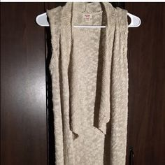 knitted sleeves cardigan   Sweaters Cardigans