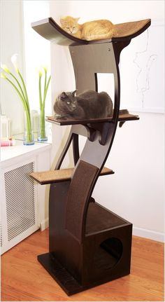 designer cat trees furniture. Unique Trees A Cat Tree With A Modern Curved Design With Designer Trees Furniture H