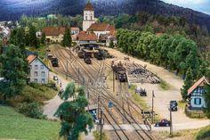 Hochschwarzwald blog 23 - Lenzkirch station trackplan view