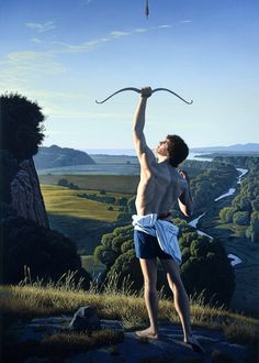Landscape with an Archer - David Ligare - - Hyper-Realism, 1991