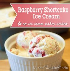 4 Ingredient Raspberry Shortcake Ice Cream - No Ice Cream Maker Needed! Golden Oreos - Mmmmmm