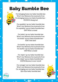 Baby Bumble Bee Song: Activities and Lessons