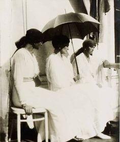Grand Duchess Tatiana, Empress Alexandra and Grand Duchess Olga.
