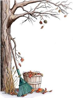 Transfer pictures on autumn and halloween theme- Transzfer képek őszi- és halloween témában Transfer pictures on autumn and halloween theme PaGi Decoplage - Autumn Art, Autumn Leaves, Autumn Trees, Borders And Frames, Writing Paper, Border Design, Book Of Shadows, Fall Crafts, Fall Halloween