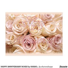HAPPY ANNIVERSARY ROSES by SHARON SHARPE Postcard