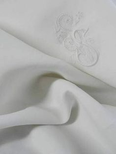 """Sumptuous Antique Linen Monogrammed """"SS"""" Embroidered Lace Pillowcase   eBay Vintageblessings"""