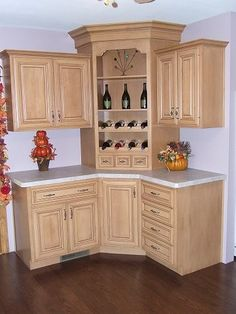 Building Corner Bar For Small Spaces Kitchen Cabinets Decor, Kitchen Room Design, Kitchen Corner, Kitchen Cabinet Design, Kitchen Layout, Home Decor Kitchen, Interior Design Kitchen, Kitchen Furniture, Home Kitchens
