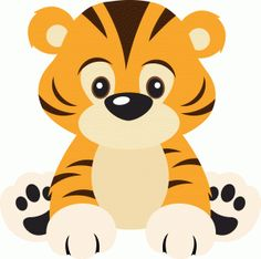 I think I'm in love with this design from the Silhouette Design Store! Summer Crafts For Toddlers, Toddler Crafts, Jungle Animals, Baby Animals, Safari Thema, Silhouette Online Store, Safari Party, Cute Cartoon, Cartoon Tiger